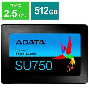 ADATA 内蔵SSD SATA6Gb/s 3DTLC 7mm [2.5インチ /512GB] ASU750SS512GTC