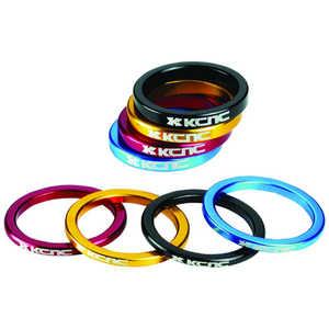 KCNC ヘッドセットパーツ スペーサー OS 5mm 5mm/レッド スペーサー