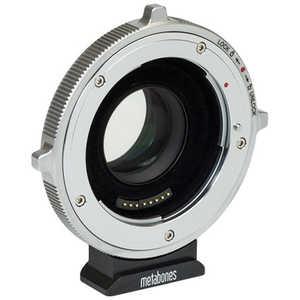 METABONES マウント(ボディ側:BMPCC4K/レンズ側:Canon EF)・Speed Booster ULTRA 0.71x・APS-C専用・電子接点付き・CINEシリーズ・T(フロック加工) ブラック MB_SPEFM43BTA
