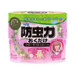 ピレパラアース 防虫力おくだけ 消臭プラス 柔軟剤の香り フローラルソープ 300ml