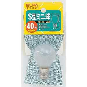 ELPA 電球 S型ミニ フロスト[E17/1個/豆電球形] G21HF