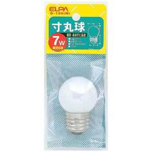 ELPA 電球 寸丸球 ホワイト[E26/白色/1個/豆電球形] W G13H