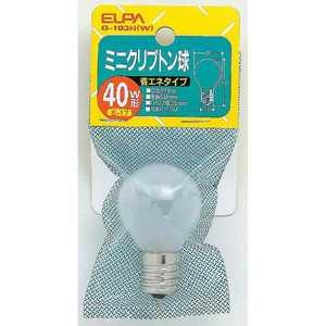 ELPA クリプトン球 40WG-103H(W) G103HW