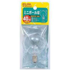 ELPA ミニボール 40W-E12 C G803HC