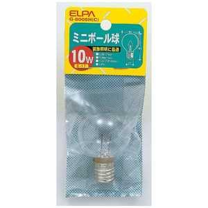 ELPA 電球 ミニボール球 クリア[E17/1個/ボール電球形] C G8005HC