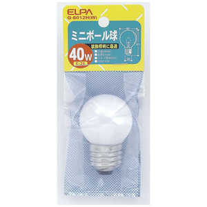 ELPA ミニボール球 G40[口金E26 /40W] G8012HW