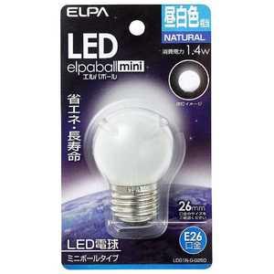 ELPA LED電球エルパボール昼白色(ミニボールタイプ)「一般電球タイプ」 G0060N#26 LDG1NGG250