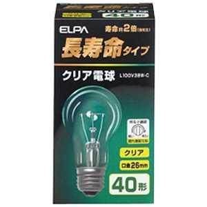ELPA 長寿命シリカ電球(40形・口金E26) C L100V38WC