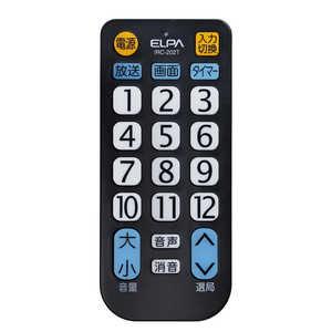 ELPA テレビリモコン BK IRC202TBK