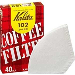 カリタ コーヒーフィルター 濾紙 ホワイト 40枚入 102
