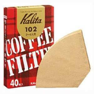 カリタ コーヒーフィルター 102濾紙 ブラウン箱入り40枚 102ロシブラウン40マイ