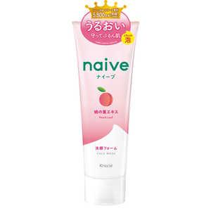 ナイーブ 洗顔フォーム 桃の葉エキス配合 130g