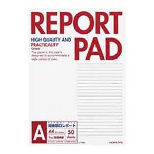 コクヨ [レポート用紙]レポートパッド 表紙巻き(A罫 A4 50枚) レ725A