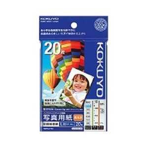 コクヨ インクジェットプリンター用 写真用紙 印画紙原紙 高光沢 L/20枚 KJD12L20