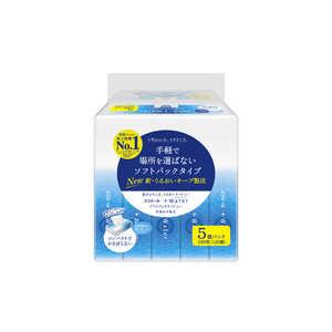 エリエール+Water ソフトパック 120組×5個