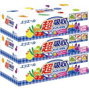 大王製紙 エリエール 超吸収キッチンタオル ボックスタイプ75組3個 キッチンボックス3P