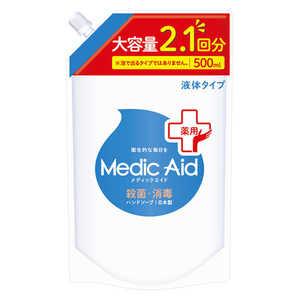 NSファーファJ メディックエイド 薬用液体ハンドソープ 大容量詰替 500ml 861限定 MAヤクエキハンドツメカエ