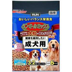 日清ペットフード ラン・ミール ラン・ミールミックス 大粒成犬用 3.2kg〔ペットフード〕 RMMオオツブセイケン32KG
