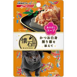 日清ペットフード 懐石レトルト かつお白身 削り節を添えて 魚介だしスープ 40g 猫 カイセキレトルトスプKケズリ40G