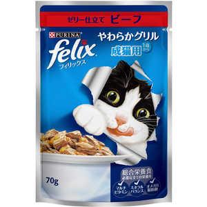 ネスレ日本 フィリックスやわらかG 成猫用 ビーフ 70g フィリックスヤワラカGセイネコビーフ7
