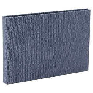 ナカバヤシ コット 黒台紙フォトアルバム L判横向き24枚 ブルー ブルー ACOPL240B