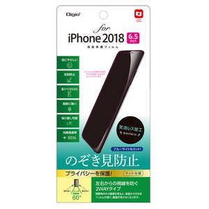 ナカバヤシ Digio2 iPhone XS Max 6.5インチ用液晶保護フィルム のぞき見防止 覗き見防止 SMFIP183FLGPV