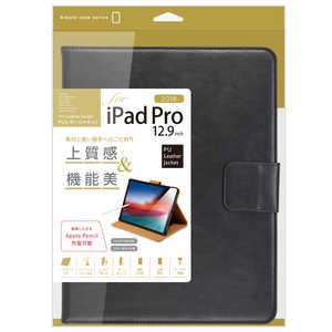 ナカバヤシ iPadPro12.9inch(2018)用PUレザージャケット ブラック ブラック TBCIPP1818BK