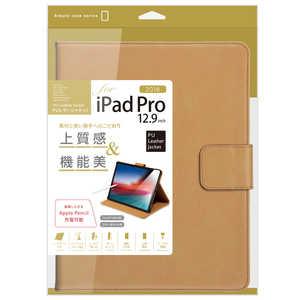 ナカバヤシ iPadPro12.9inch(2018)用PUレザージャケット キャメル TBCIPP1818CA