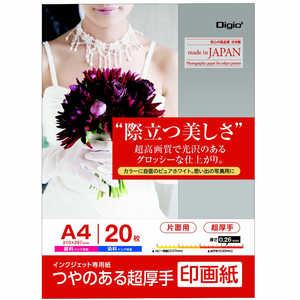 ナカバヤシ Digio2 インクジェット用 印画紙 超厚手 A4 20枚 JPSK2A420
