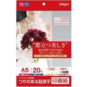 ナカバヤシ Digio2 インクジェット用 印画紙 超厚手 A5 20枚 JPSK2A520