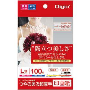 ナカバヤシ Digio2 インクジェット用 印画紙 超厚手 L判 100枚 JPSK2L100