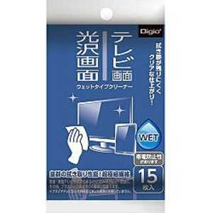 ナカバヤシ テレビ・光沢画面ウエットタイプクリーナー(携帯タイプ・15枚) 携帯15枚 DGCWK4015
