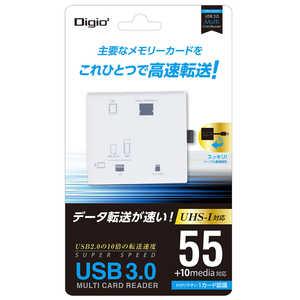 ナカバヤシ USB3.0 マルチカードリーダー ホワイト ホワイト ホワイト CRW37M74W