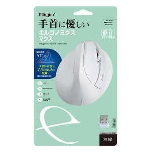 ナカバヤシ MUS-RKF169W マウス Digio2 ホワイト [BlueLED /5ボタン /USB /無線(ワイヤレス)] ホワイト MUSRKF169W