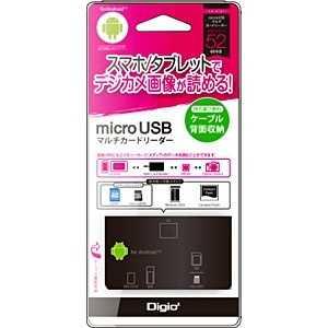 ナカバヤシ 44+8メディア対応 Android用microUSBマルチカードリーダー ブラック CRWM5M57BK