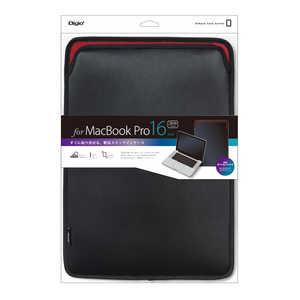ナカバヤシ Digio2 MacBookPro16インチ用スリップインケース ブラック SZCMP6103BK
