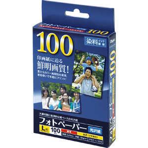 ナカバヤシ フォトペーパー 光沢紙 L 100枚 JPECL100