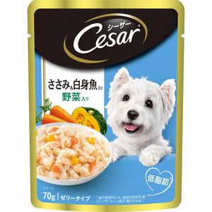 マースジャパンリミテッド シーザー ささみ&白身魚入り 野菜入り 70g 犬 CEP14ササミシロミヤサイ