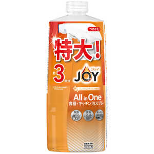 P &G ジョイ ミラクルクリーン 泡スプレー 食器用洗剤 フレッシュシトラスの香り 詰替 3回分 690ml ジョイアワシトラスカエ3カイ