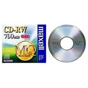 マクセル データ用CD-RW「1-4倍速/700MB」1枚 80Wx1#x4 CDRW80MQS1P