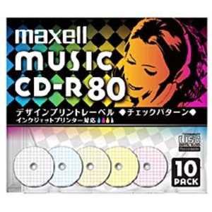 マクセル CD-R 80分 10枚パック 80W10#x4 CDRA80PMIXS1P10S