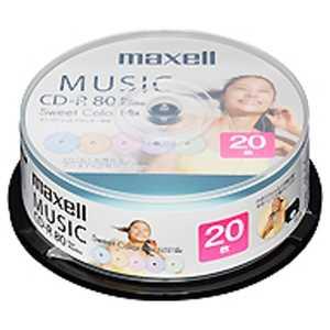 マクセル 音楽用CD-R 80分 20枚スピンドルケース 80R20P CDRA80PSM.20SP