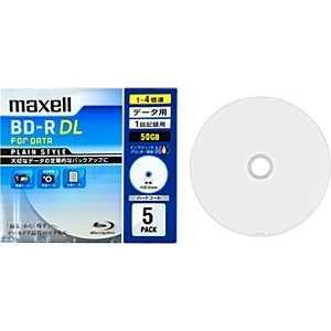 マクセル 1-4倍速対応データ用ブルーレイディスクBD-R DL(50GB・5枚) RDx5P1~4 BR50PPLWPB.5S