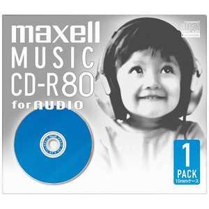 マクセル 音楽用CD-R 80分 ブルー(1枚パック) ブルー CDRA80DBL1J
