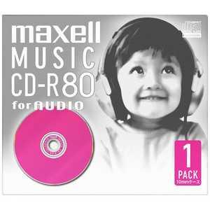 マクセル 音楽用CD-R 80分 ピンク(1枚パック) ピンク CDRA80D. PK.1J