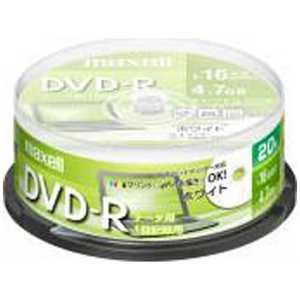 マクセル 1~16倍速対応 データ用DVD-Rメディア (4.7GB・20枚) R-S20P16 DR47PWE.20SP