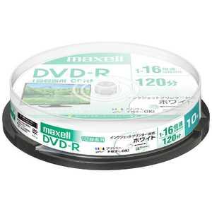 マクセル 録画用DVD-Rホワイトディスク(CPRM対応) 16倍速10枚スピンドルパック R-S10P16V DRD120PWE.10SP