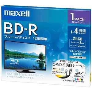 マクセル 録画用 BD-R 1-4倍速 25GB 1枚「インクジェットプリンタ対応」 1L1P BRV25WPE.1J