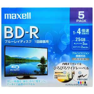 マクセル 録画用BD-Rホワイトディスク 4倍速5枚パック 1L5P BRV25WPE.5S