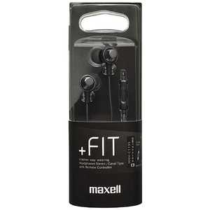 マクセル [マイク対応]カナル型イヤホン +FiT (1.2mコード) ブラック MXHC110SBK